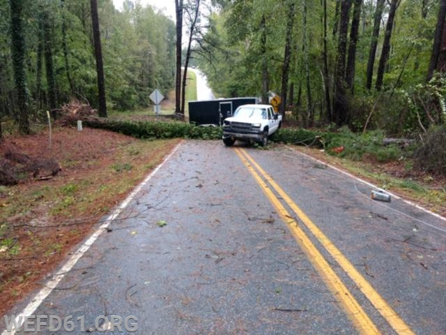Tree and Power Lines down on Curry Mill Rd